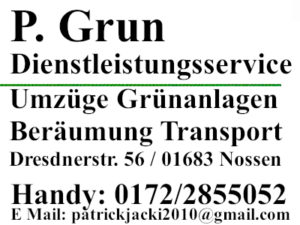 P. Grun - Dienstleistungsservice - Handy: 0172/2855052