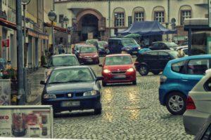 Nossen, Markt, Parkplatz
